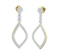 Natural Diamond Earrings 0.95 CT / 5.06 gm Gold