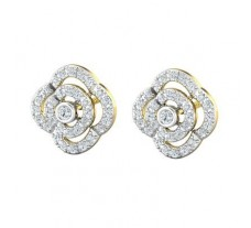 Natural Diamond Earrings 0.66 CT / 4.39 gm Gold
