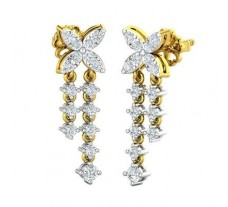 Natural Diamond Earrings 0.52 CT / 3.18 gm Gold
