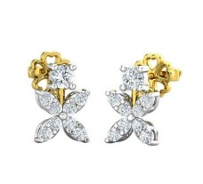 Natural Diamond Earrings 0.45 CT / 2.48 gm Gold