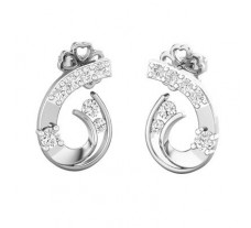 Natural Diamond Earrings 0.34 CT / 2.36 gm Gold