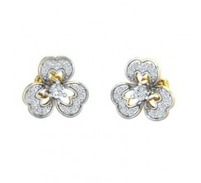 Natural Diamond Earrings 0.41 CT / 2.84 gm Gold