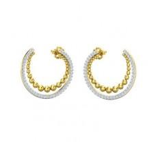 Natural Diamond Earrings 0.73 CT / 4.90 gm Gold