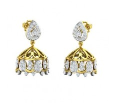 Natural Diamond Earrings 0.88 CT / 6.48 gm Gold
