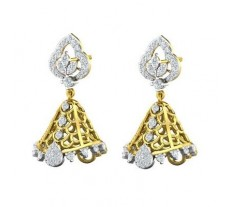 Natural Diamond Earrings 0.82 CT / 6.22 gm Gold