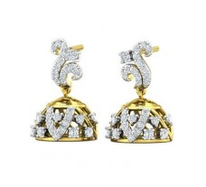 Diamond Earrings 0.79 CT / 5.00 gm Gold