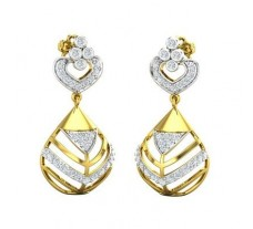 Natural Diamond Earrings 0.76 CT / 4.80 gm Gold