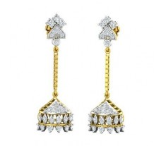 Natural Diamond Earrings 0.92 CT / 5.75 gm Gold