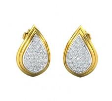 Natural Diamond Earrings 0.47 CT / 3.16 gm Gold