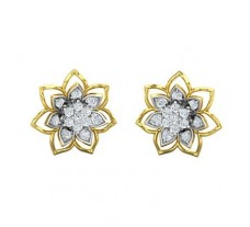 Natural Diamond Earrings 0.64 CT / 3.82 gm Gold