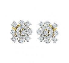 Natural Diamond Earrings 0.80 CT / 3.04 gm Gold