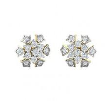 Natural Diamond Earrings 0.74 CT / 3.10 gm Gold