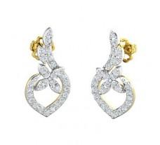 Natural Diamond Earrings 0.62 CT / 3.06 gm Gold