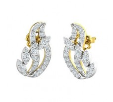 Natural Diamond Earrings 0.61 CT / 3.20 gm Gold