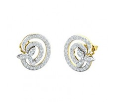 Natural Diamond Earrings 0.85 CT / 3.60 gm Gold