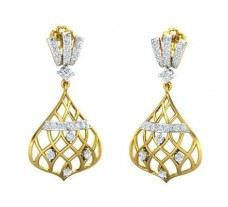 Natural Diamond Earrings 0.70 CT / 4.94 gm Gold