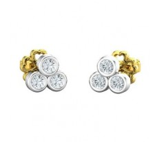 Natural Diamond Earrings 0.21 CT / 1.18 gm Gold