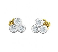 Natural Diamond Earrings 0.30 CT / 1.34 gm Gold