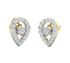 Natural Diamond Earrings 0.61 CT / 2.34 gm Gold