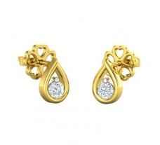 Natural Diamond Earring 0.13 CT / 1.20 gm Gold