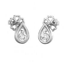 Natural Diamond Earrings 0.20 CT / 1.28 gm Gold