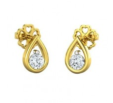 Natural Diamond Earrings 0.30 CT / 1.46 gm Gold