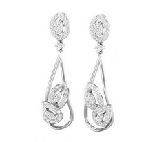 Natural Diamond Earrings 1.00 CT / 6.60 gm Gold