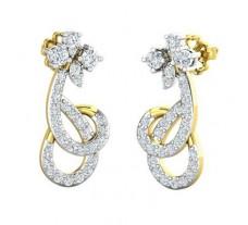 Natural Diamond Earrings 0.73 CT / 4.20 gm Gold
