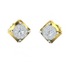 Natural Diamond Earrings 0.44 CT / 2.90 gm Gold