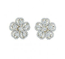 Natural Diamond Earrings 1.18 CT / 2.91 gm Gold