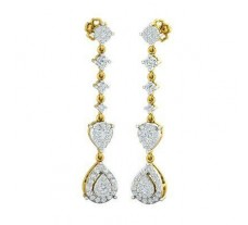 Natural Diamond Earrings 1.08 CT / 5.65 gm Gold