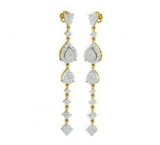 Natural Diamond Earrings 1.35 CT / 6.94 gm Gold