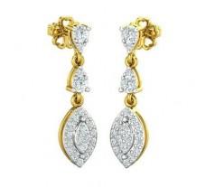 Natural Diamond Earrings 0.60 CT / 3.26 gm Gold