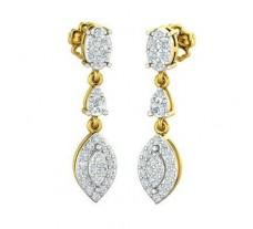 Natural Diamond Earrings 0.68 CT / 3.98 gm Gold