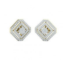 Natural Diamond Earrings 1.11 CT / 6.18 gm Gold