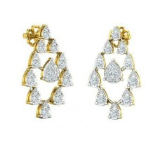 Natural Diamond Earrings 1.23 CT / 4.63 gm Gold