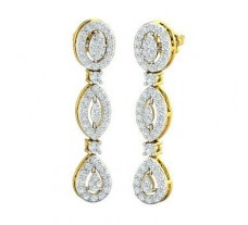 Natural Diamond Earrings 1.14 CT / 5.44 gm Gold