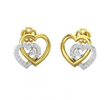 Natural Diamond Earrings 0.31 CT / 2.98 gm Gold