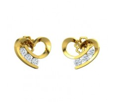 Natural Diamond Earrings 0.30 CT / 2.28 gm Gold
