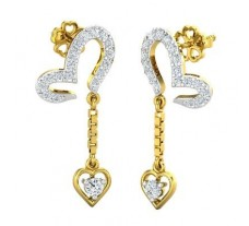 Natural Diamond Earrings 0.50 CT / 2.955 gm Gold