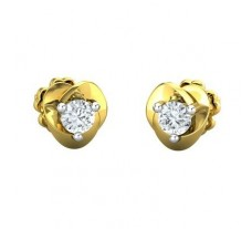Natural Diamond Earrings 0.20 CT / 1.68 gm Gold