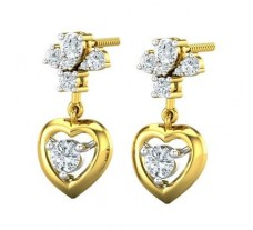 Natural Diamond Earrings 0.62 CT / 3.54 gm Gold