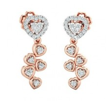 Natural Diamond Earrings 0.23 CT / 2.34 gm Gold
