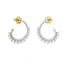 Natural Diamond Earring 1.14 CT / 4.60 gm Gold