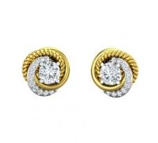 Natural Diamond Earrings 0.67 CT / 4.40 gm Gold