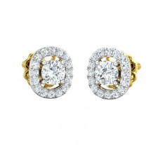 Natural Diamond Earring 0.75 CT / 2.60 gm Gold