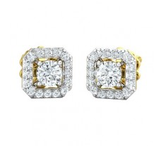 Natural Diamond Earring 0.77 CT / 2.60 gm Gold