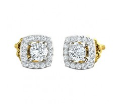 Natural Diamond Earring 0.75 CT / 2.40 gm Gold