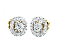 Natural Diamond Earring 0.84 CT / 2.45 gm Gold