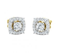 Natural Diamond Earring 0.85 CT / 2.55 gm Gold